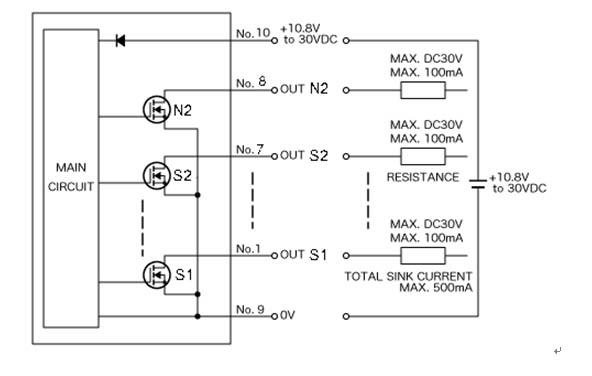 npn传感器内部电路图